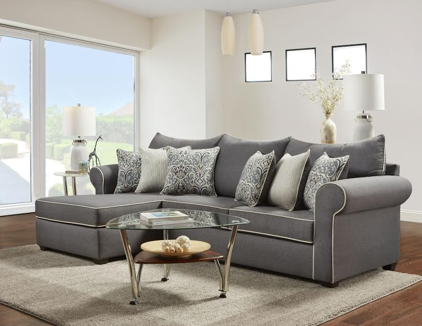 Jitterbug Gray Sectional Sectional Sofa Sets