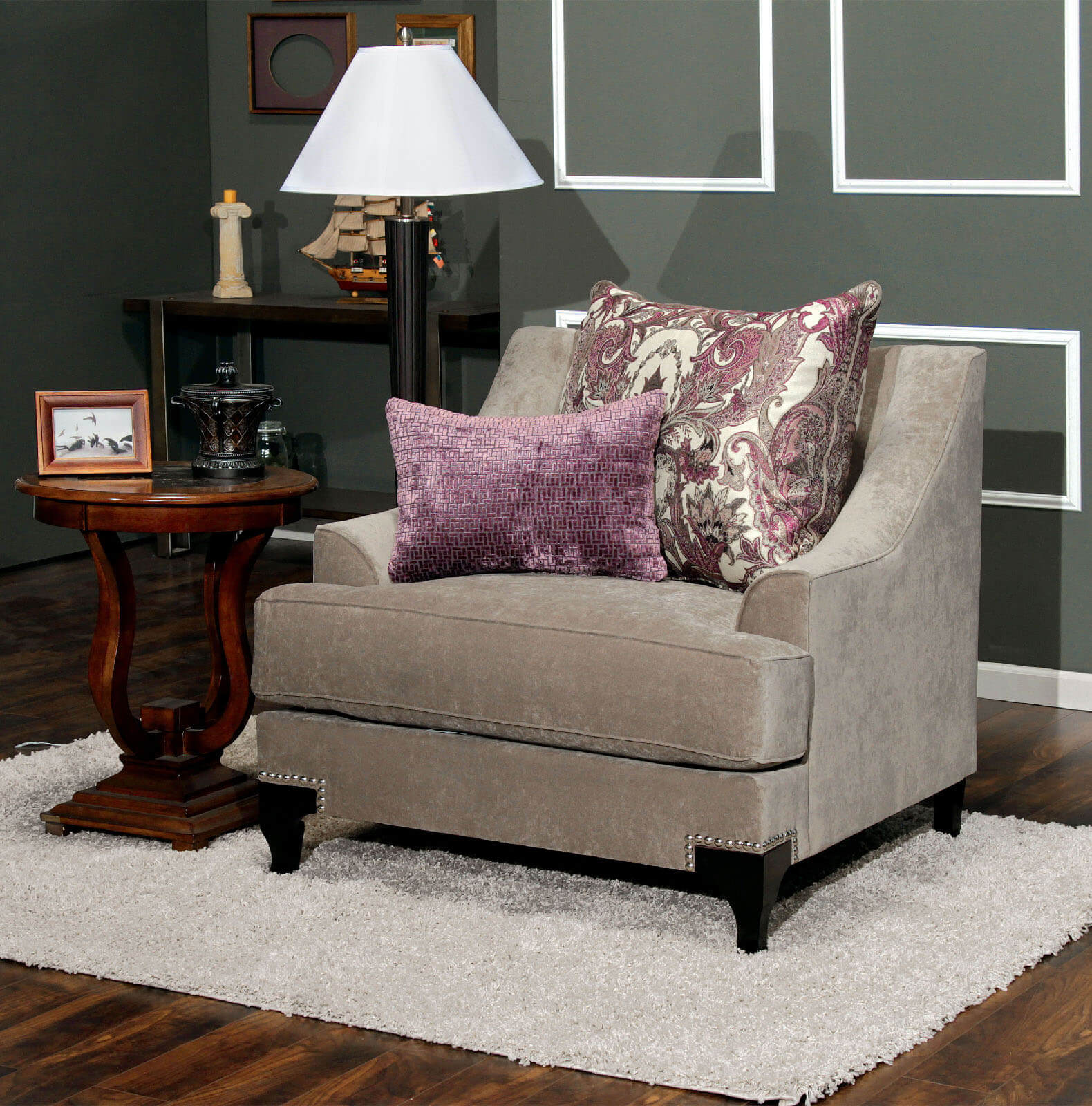 Furniture Of America Living Room Collections: Viscontti Vintage Taupe Sofa And Loveseat