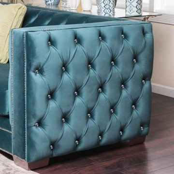 Salvatore Turquoise Sofa and Loveseat