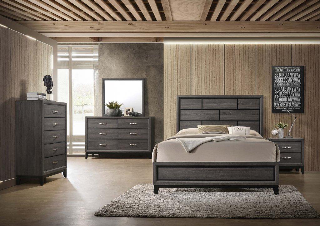 akerson grey bedroom set   urban furniture outlet
