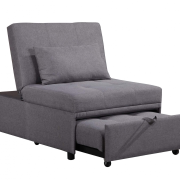 Randy Grey Convertible Chair