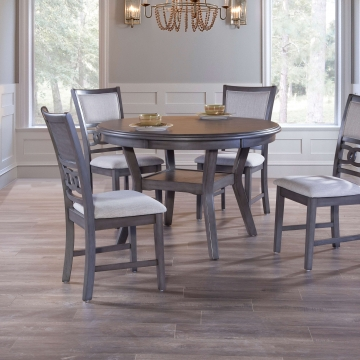 Gia Grey Round Dining Room Set