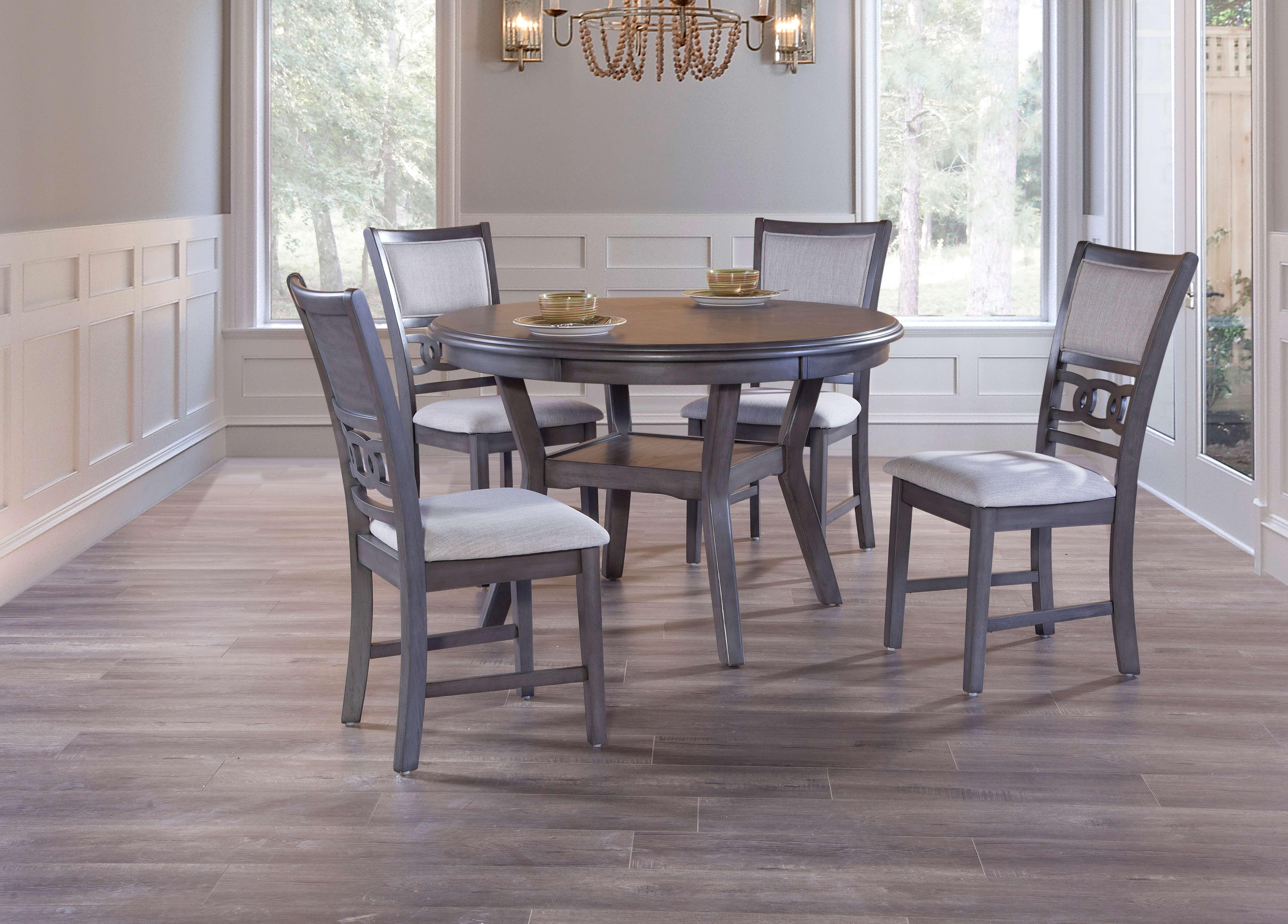Gia Grey Round Dining Room Set