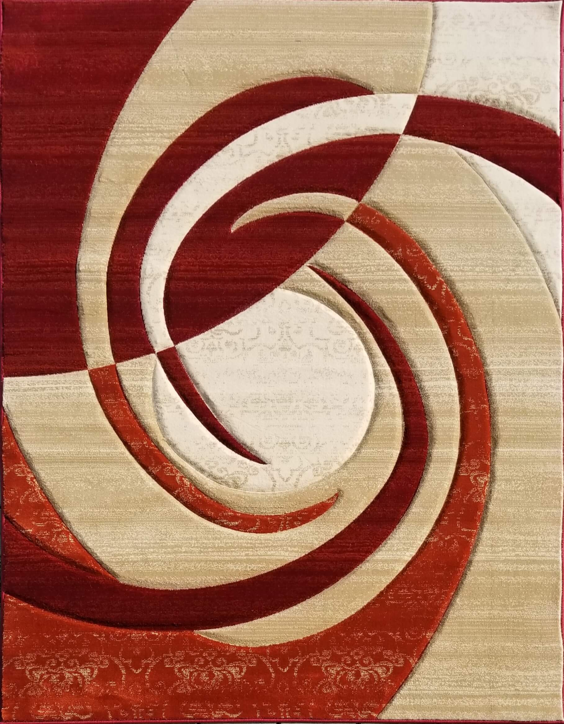 Pearl Red Area Rug