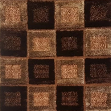 Luxury Shag Brown Area Rug