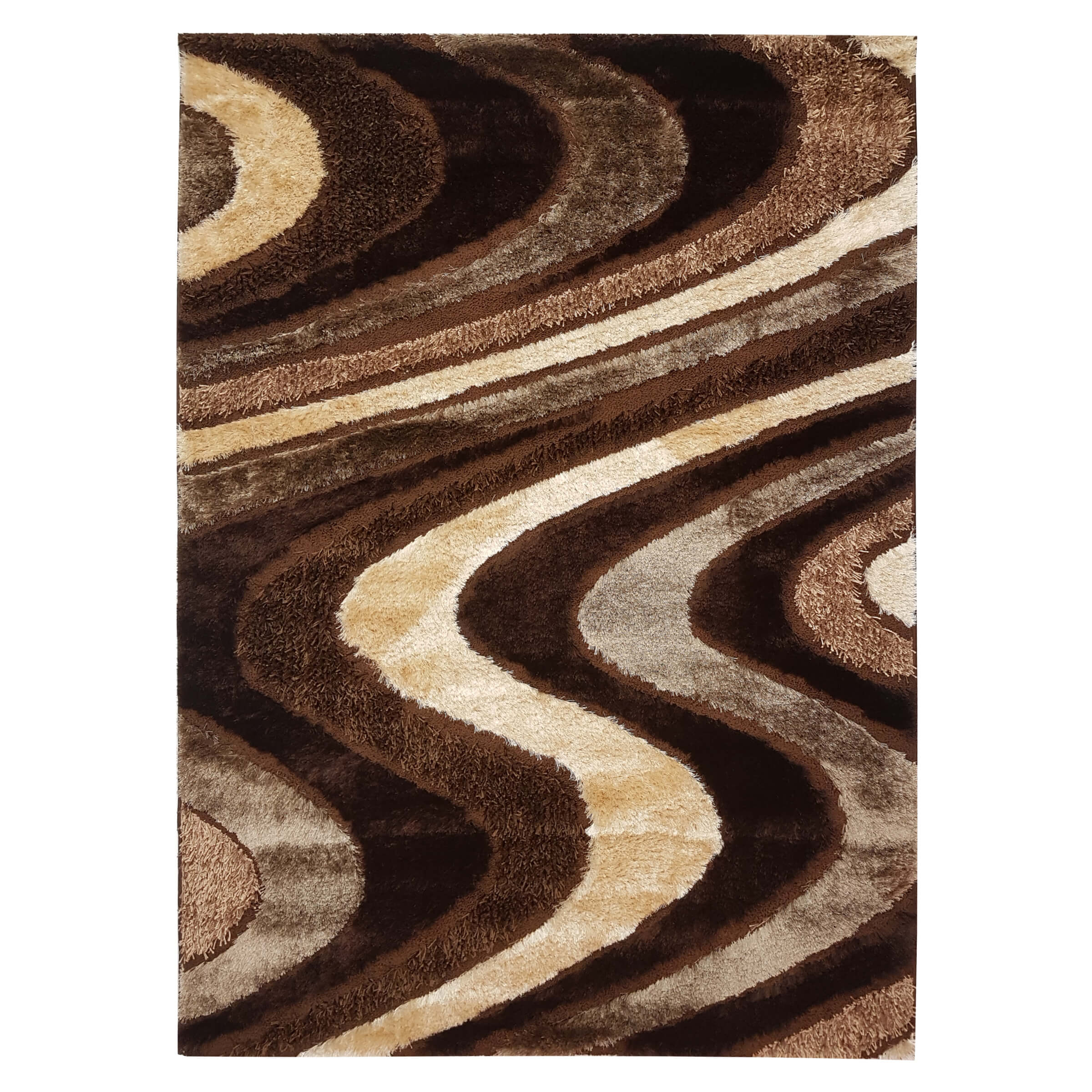 Luxury Shag Brown Area Rug Rugs Urban Furniture Outlet
