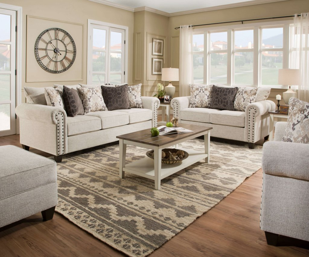 della linen sofa and loveseat  living room furniture