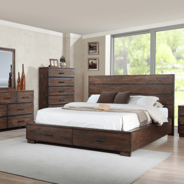 rustic reclaimed bedroom set