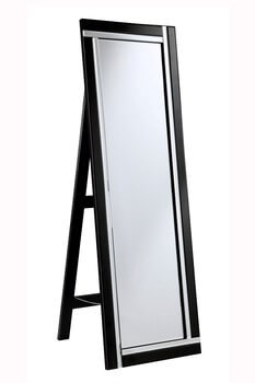 modern black floor mirror