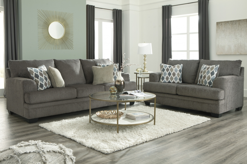 Dorsten Slate Sofa And Loveseat Fabric Living Room Sets