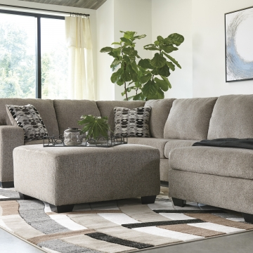 Ballinasloe Platinum Gray Sectional