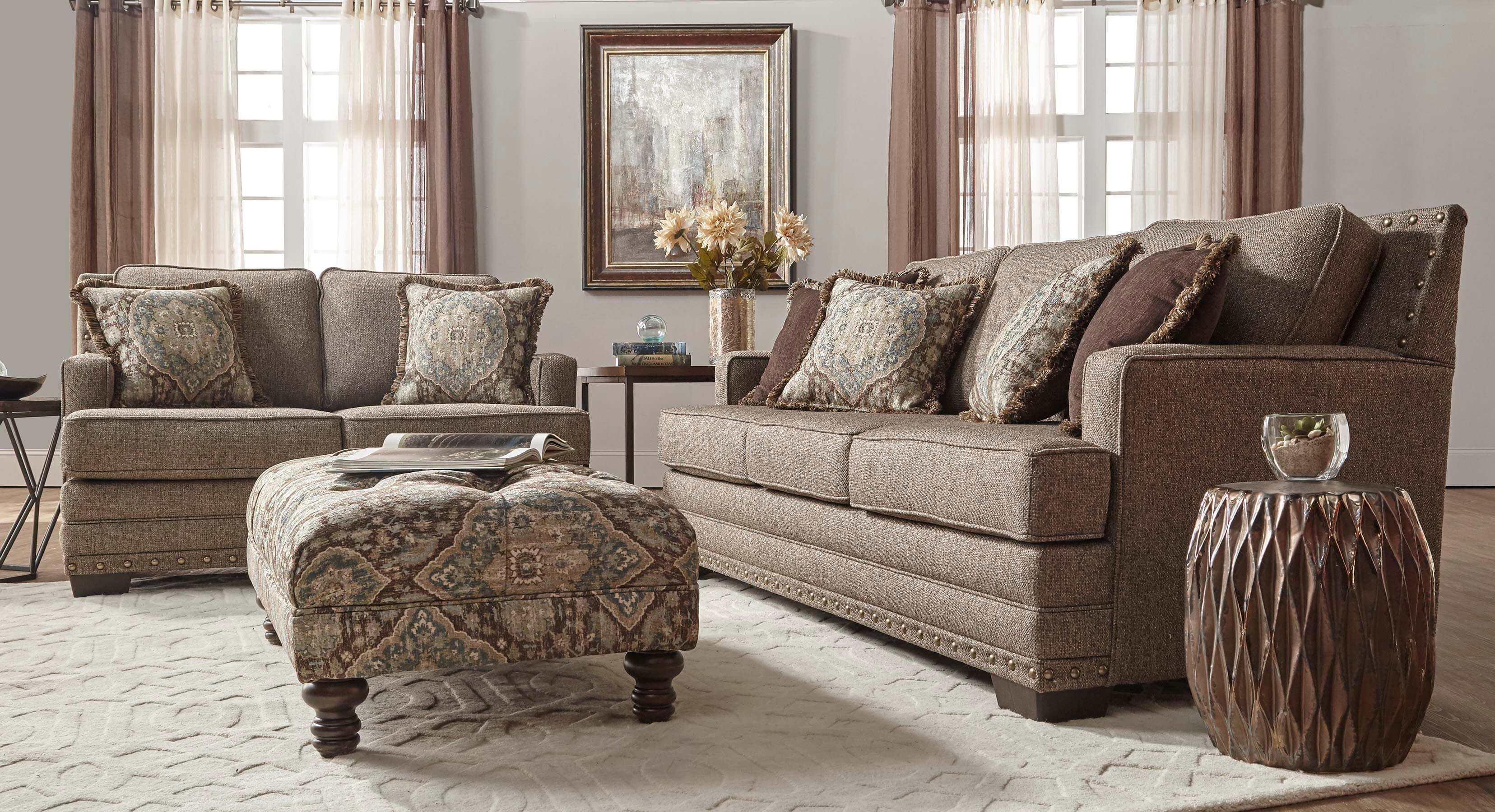 10100 Canyon Buckhorn Sofa And Loveseat