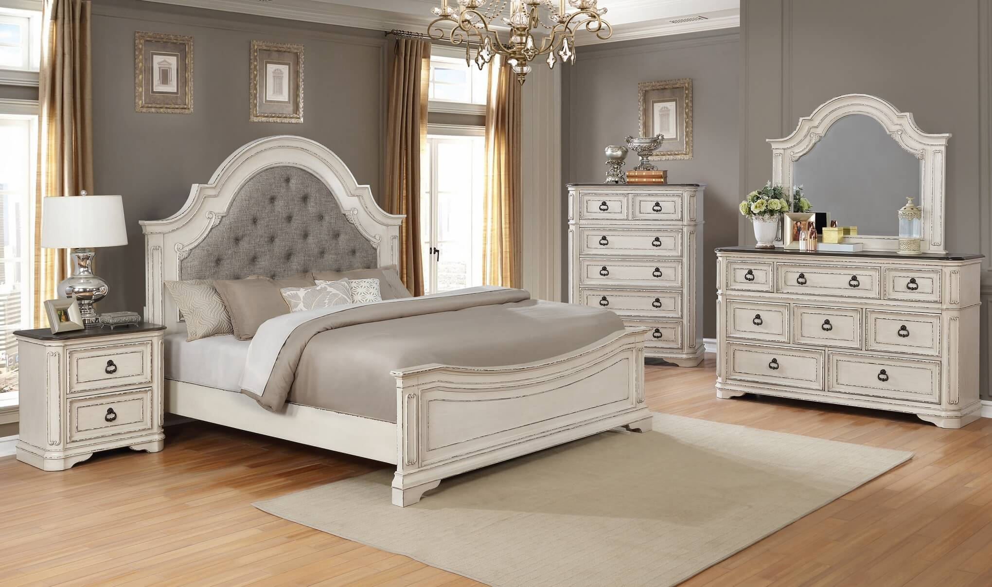 B1640 Magnolia Antique White Bedroom Set