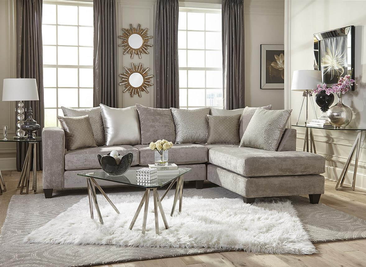 4126 hollywood silver sectional