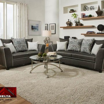 4160 vivid onyx sofa and loveseat