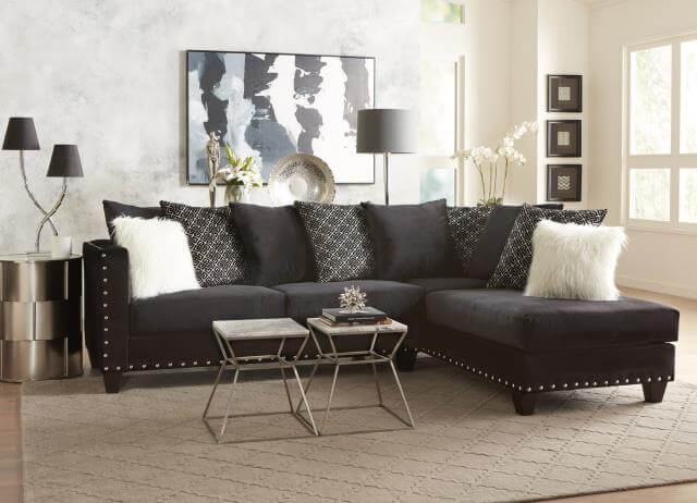 Implosion Black Sectional Urban Furniture Outlet