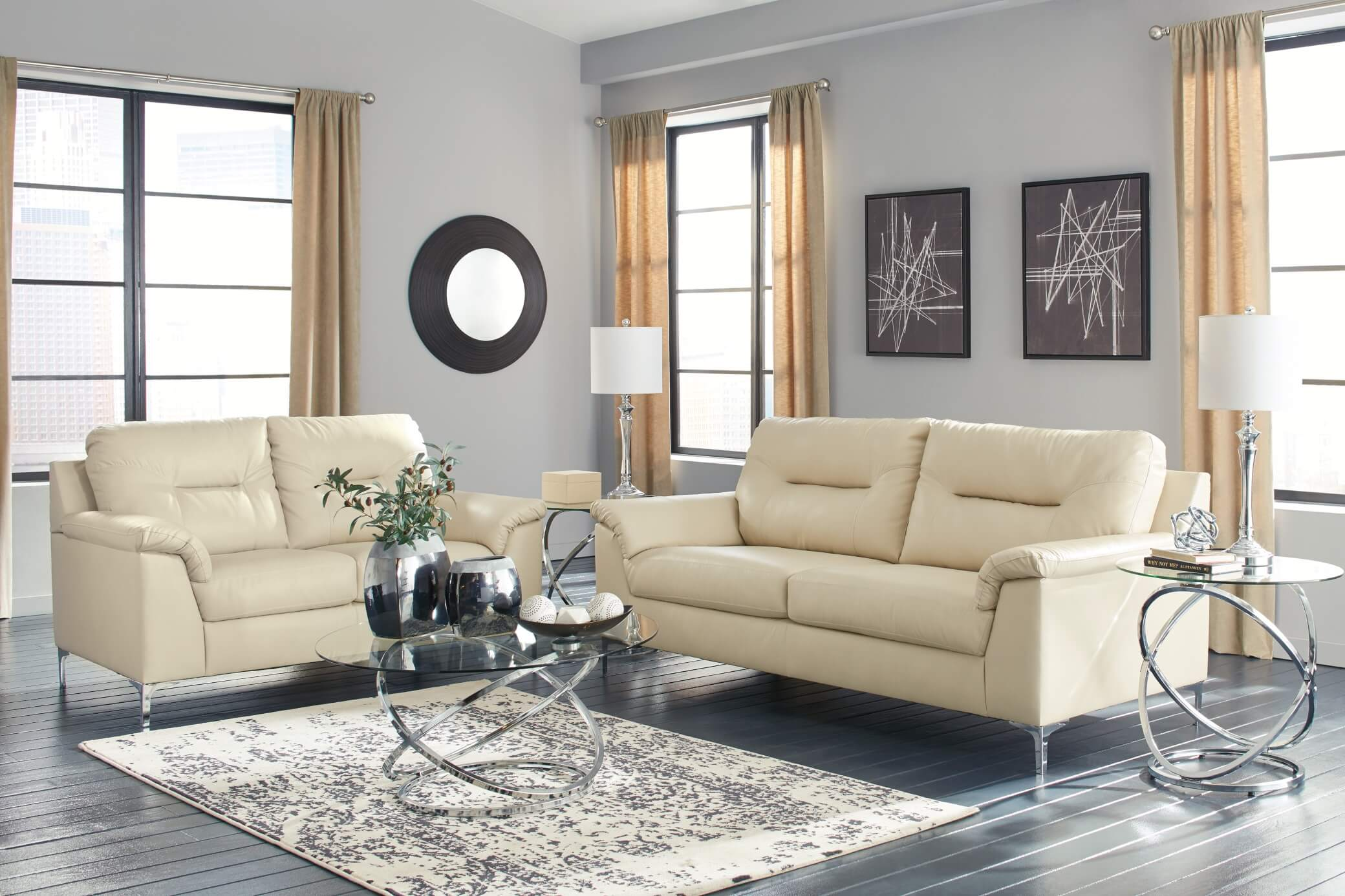 Tensas Ice Contemporary Living Room Set | Urban Furniture Outlet