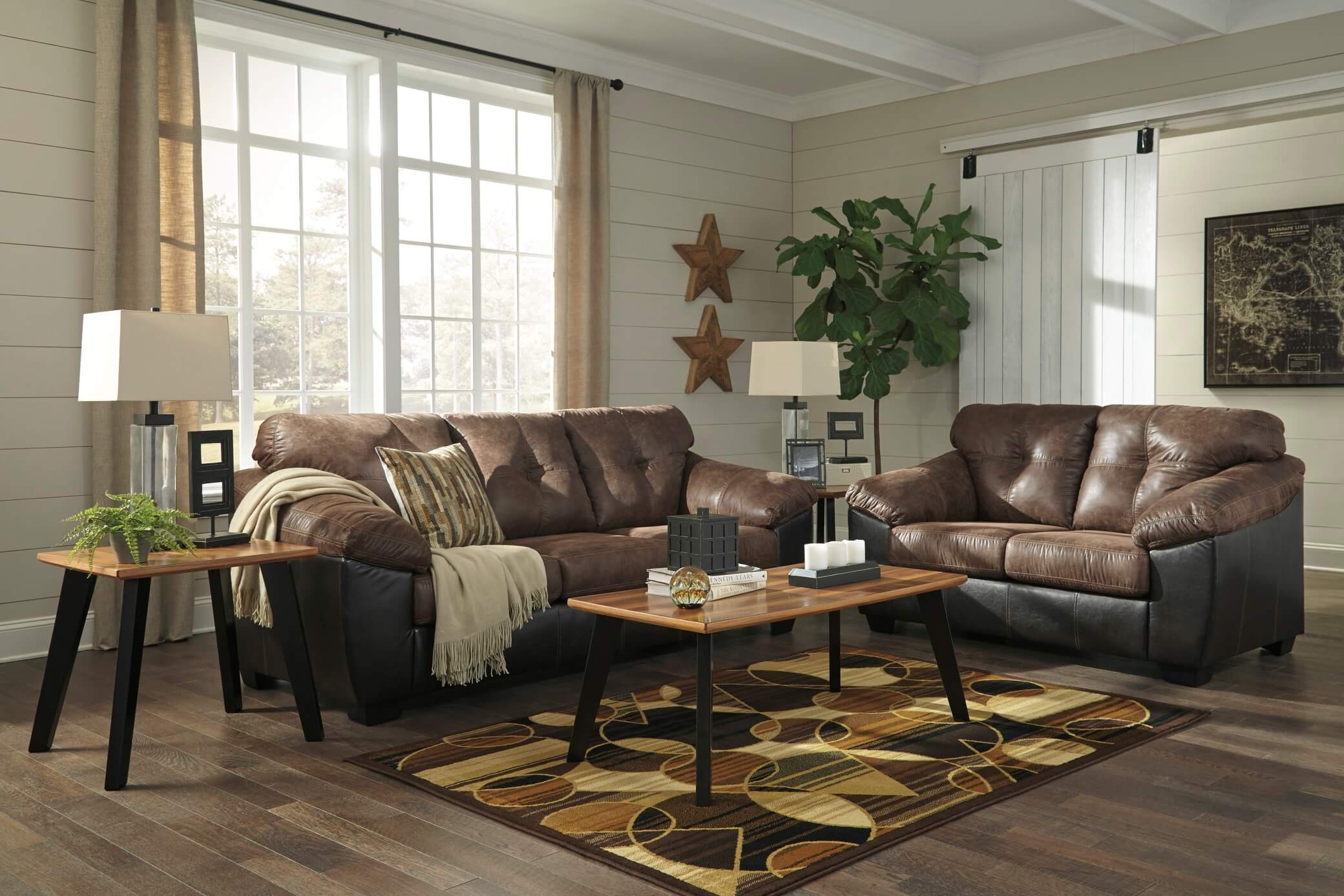 Gregale Coffee Set Fabric Living Room Sets
