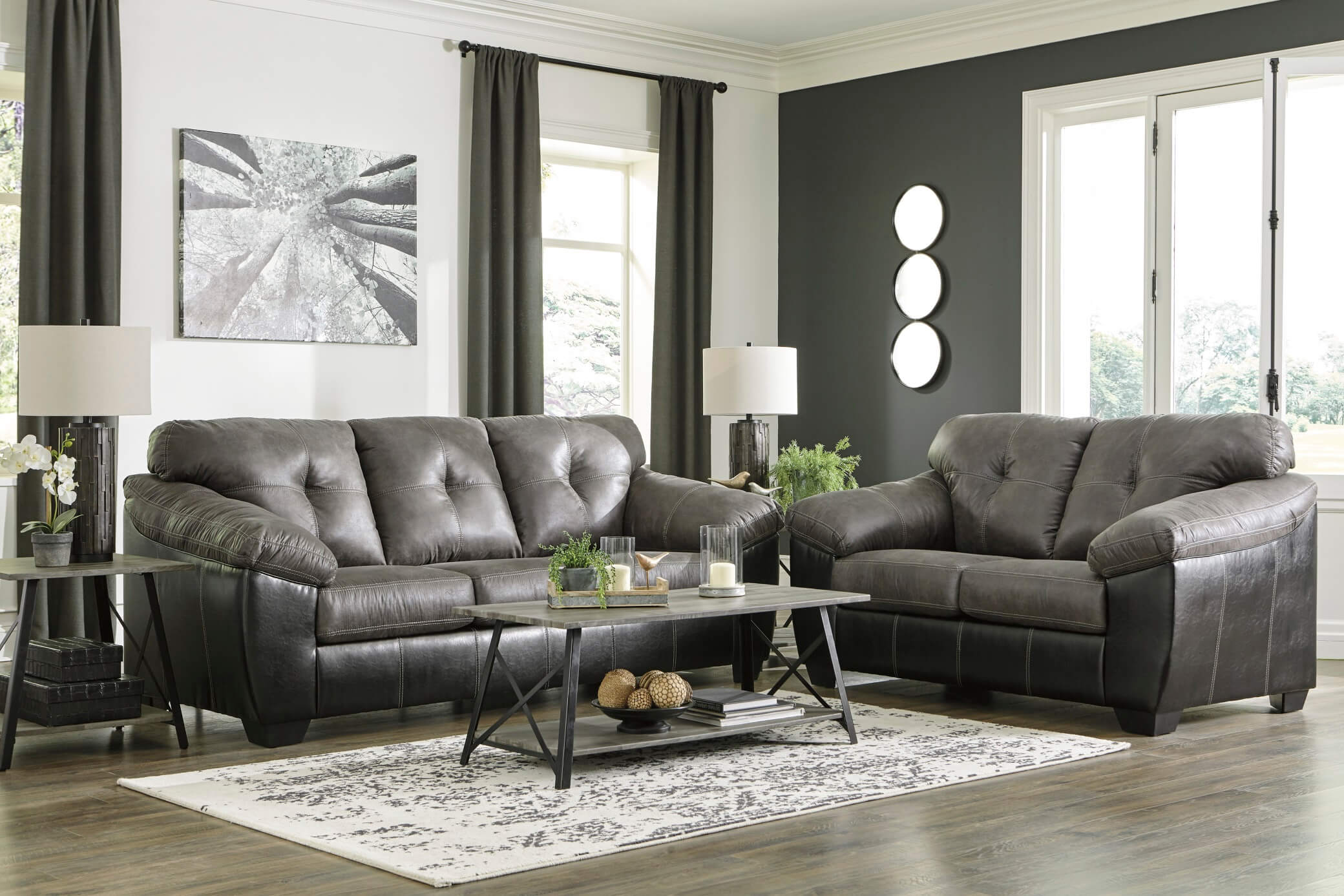 Gregale Slate Set Recliners Urban Furniture Outlet