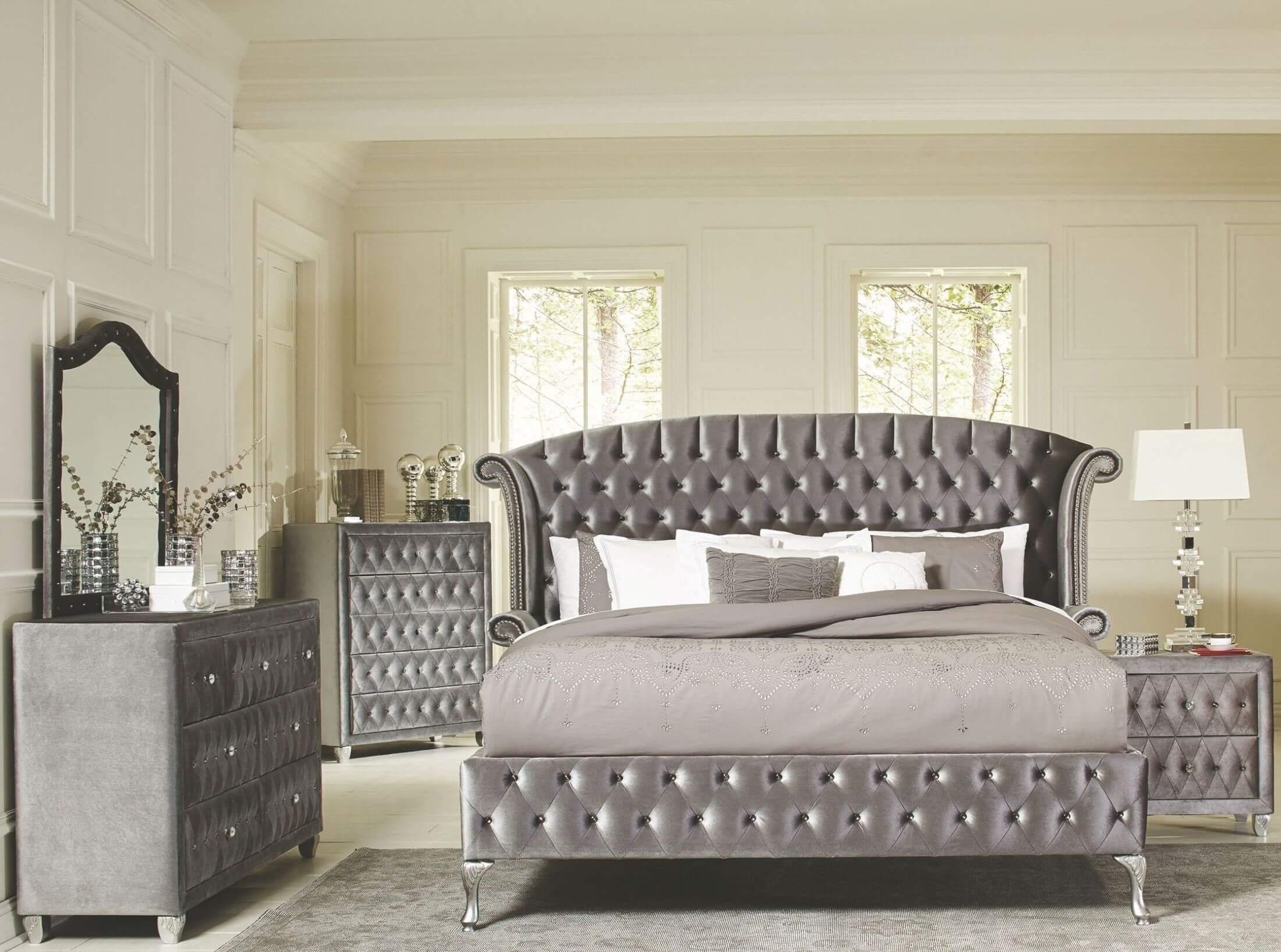 glamorous bedroom furniture sets | Deanna Glam Bedroom Set | Urban Furniture Outlet