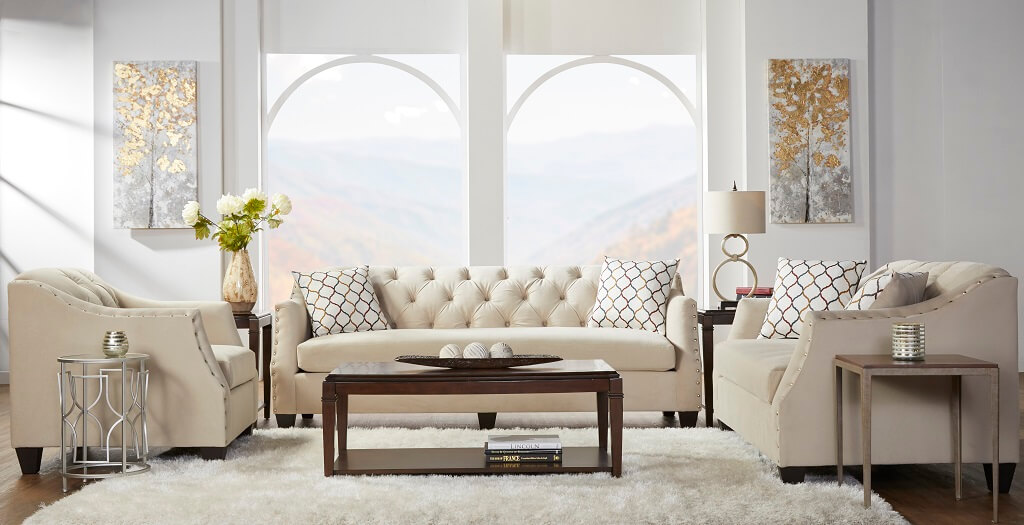 Bing Barley Tufted Sofa And Loveseat Urban Furniture Outlet