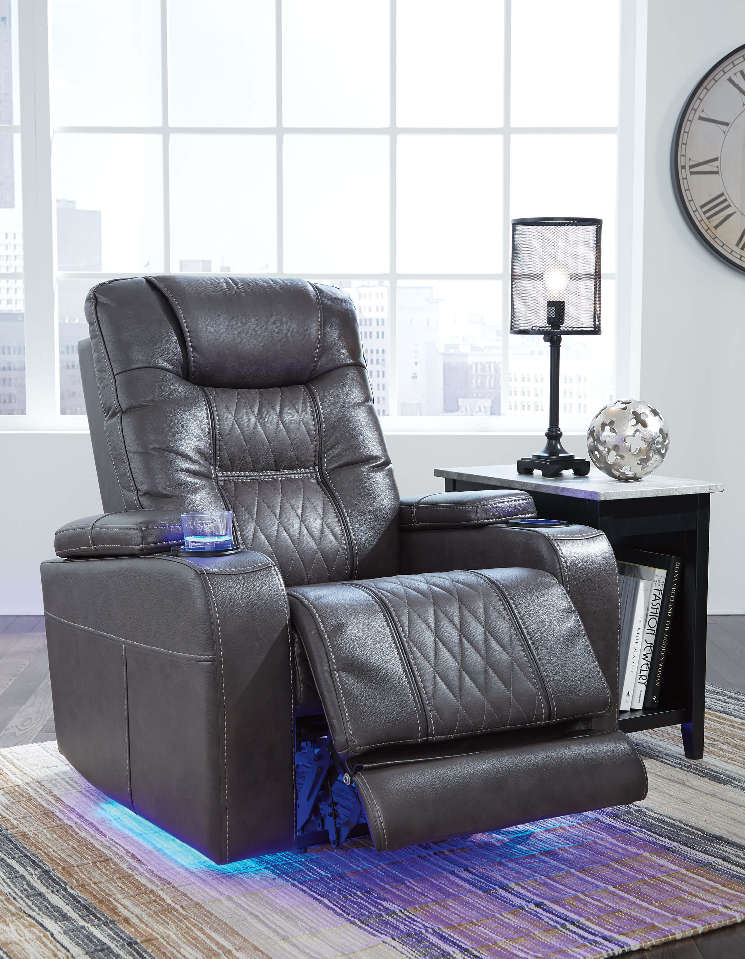 Composer Gray Power Recliner Urban Furniture Outlet