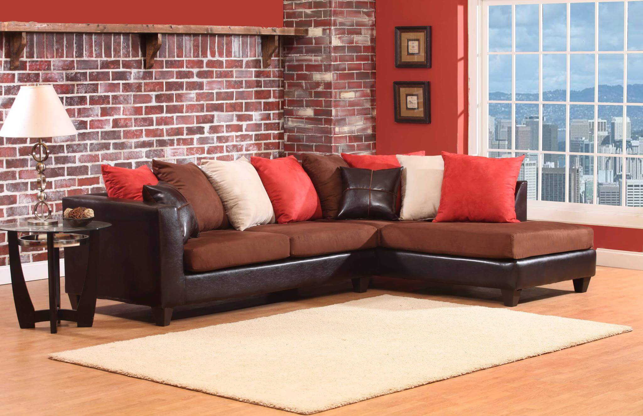 4184 jefferson chocolate sectional