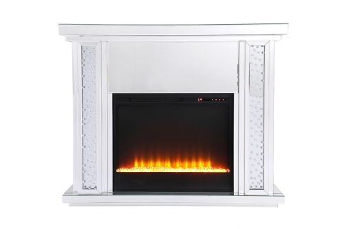 mirror mantel with fireplace