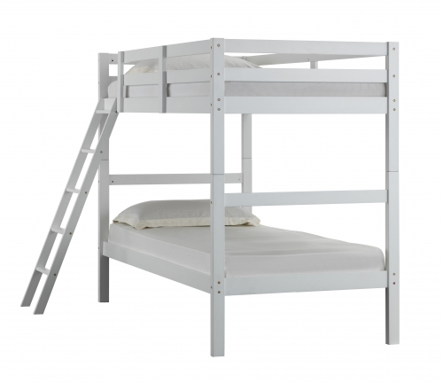 white twin twin bunk bed