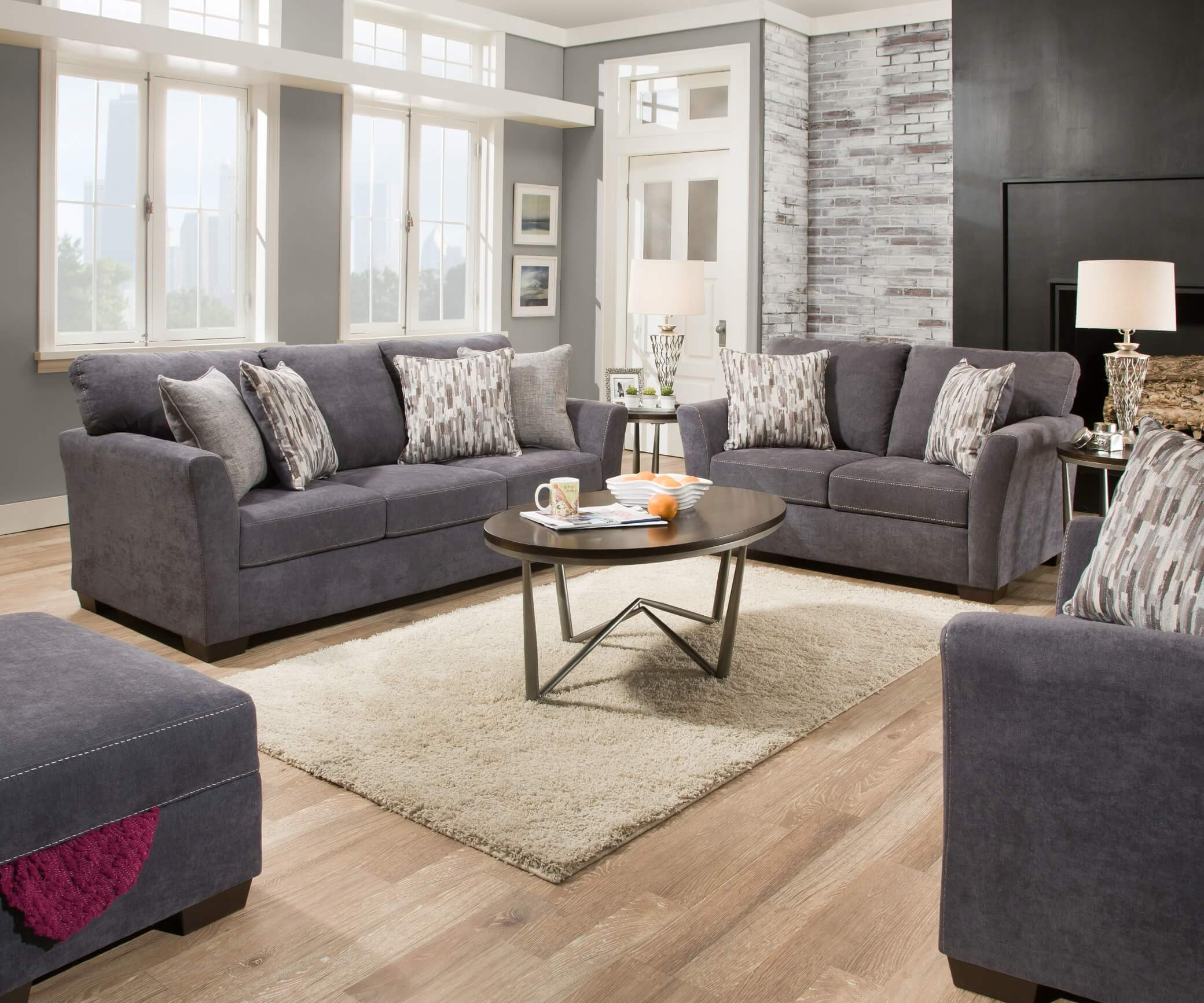 Magnificent 7058 Pacific Blue Sofa And Lovseat Set Download Free Architecture Designs Scobabritishbridgeorg