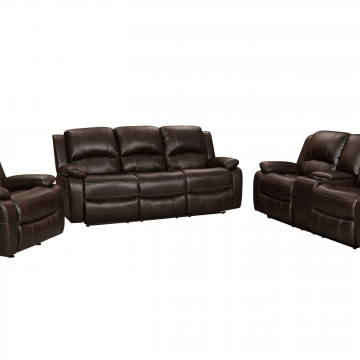 Brown Reclining Sofa & Loveseat Set