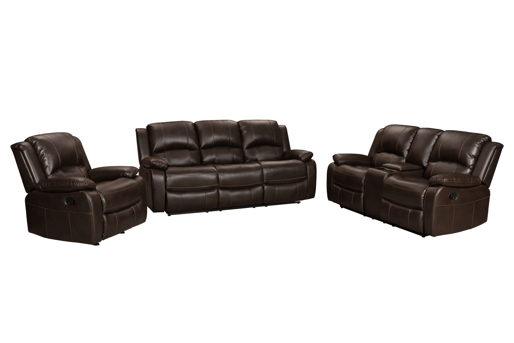 3333 Brown Reclining Sofa & Loveseat Set