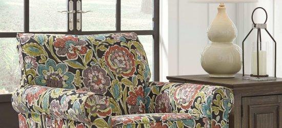 Harrietson 'Flower Power' Swivel Chair