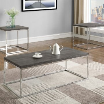 Britt Chrome Coffee and End Table Set
