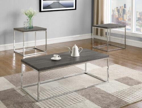Britt Chrome Coffee and End Table Set