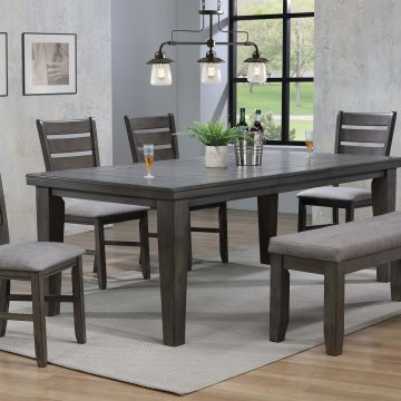 Crown Mark Grey Bardstown Dining Room Set