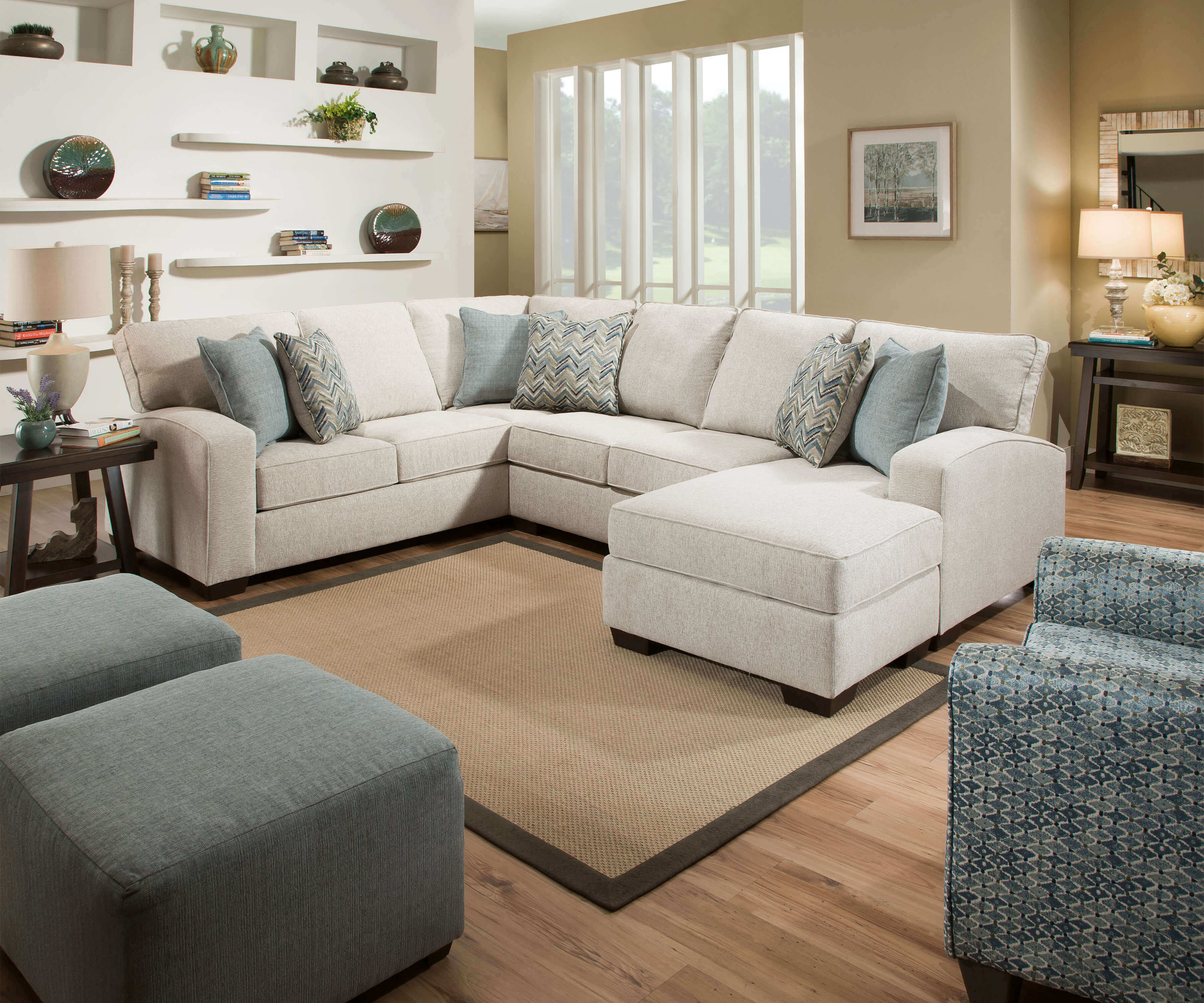 Phenomenal 7077 Endurance Grain Sectional With Chaise Gmtry Best Dining Table And Chair Ideas Images Gmtryco