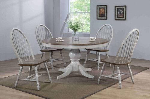 Jack Round Pedastal Dining Table Set