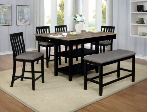 Nina Black Counter Height Set
