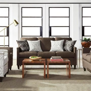 Quinton Dusk Sofa and Loveseat