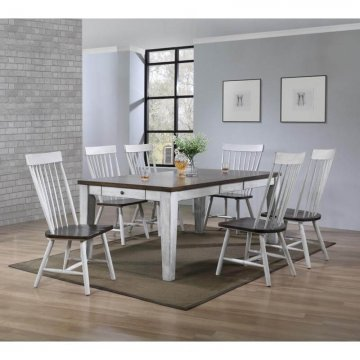 Riley White Wash Dining Set
