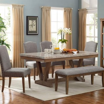 Vesper Marble Dining Room Set