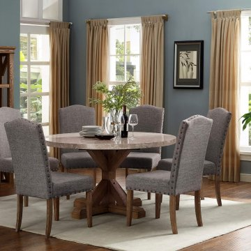 Vesper Round Marble Dining Room Set