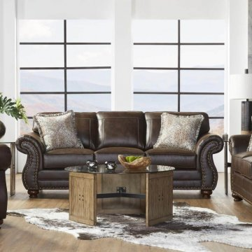 Ridgeline Brownie Sofa and Loveseat