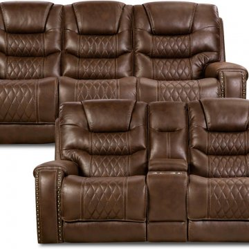 Titan Reclining Sofa and Loveseat