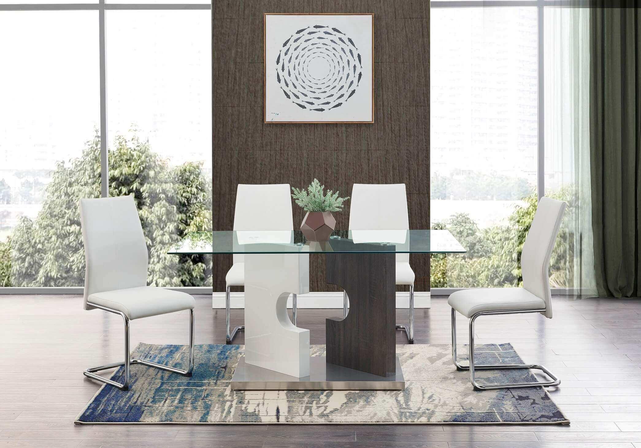D219 GW Glass Dining Room Set
