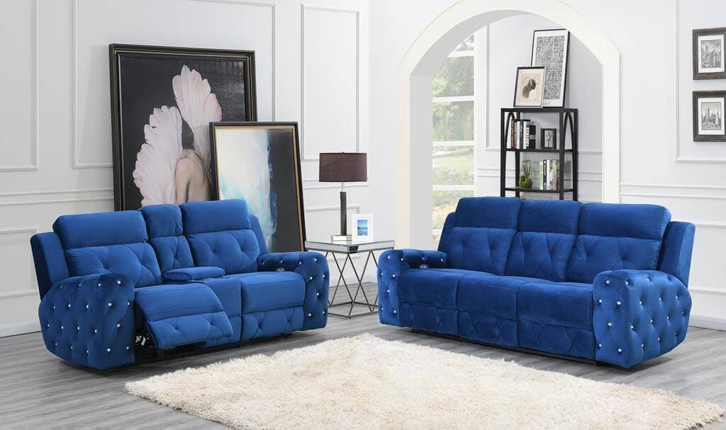 Pleasing U8311 Kapow Blue Power Reclining Sofa And Loveseat Forskolin Free Trial Chair Design Images Forskolin Free Trialorg