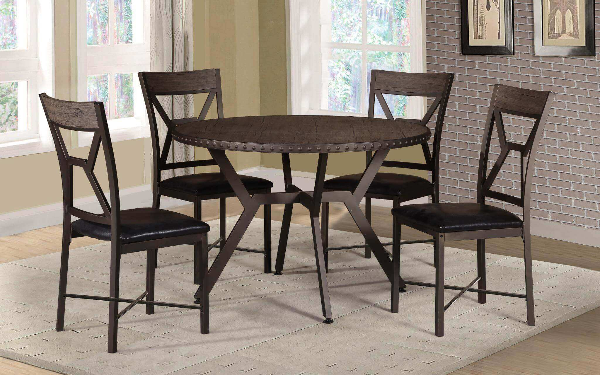 3125 Zeplin Round Dining Table Set