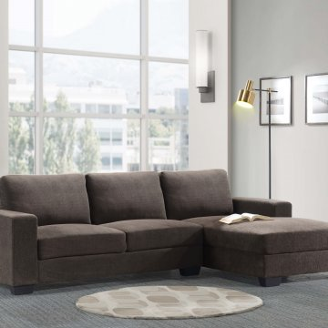 Charleston Chocolate Sectional
