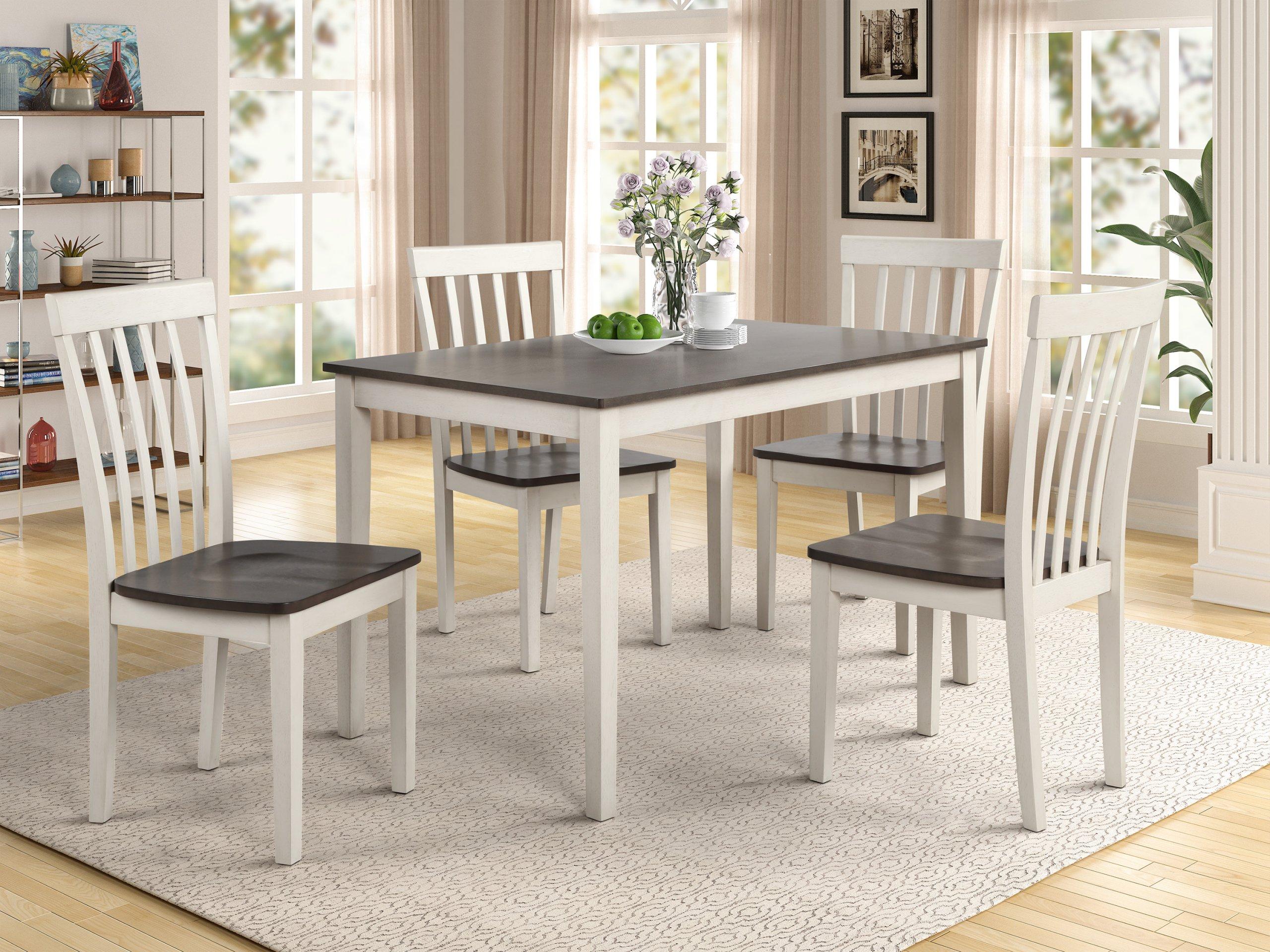 2182 Brody White/Grey Dining Room Set